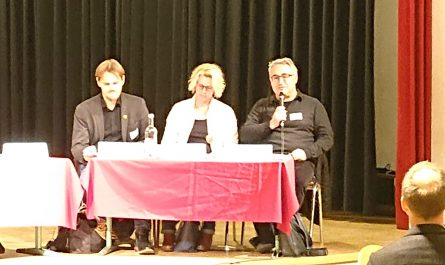 Podiumsdiskussion auf der Veranstaltung des Ganztagsschulverbandes Hamburg e.V.