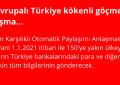 6,5 milyon Avrupalı Türkiye kökenli göçmeni mağdur edecek anlaşma...
